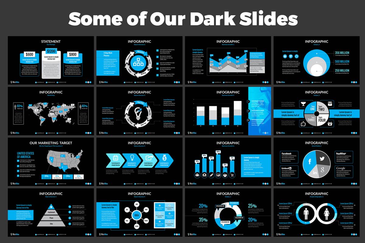20 Premium PowerPoint and Keynote Templates - 06 Dark Slide