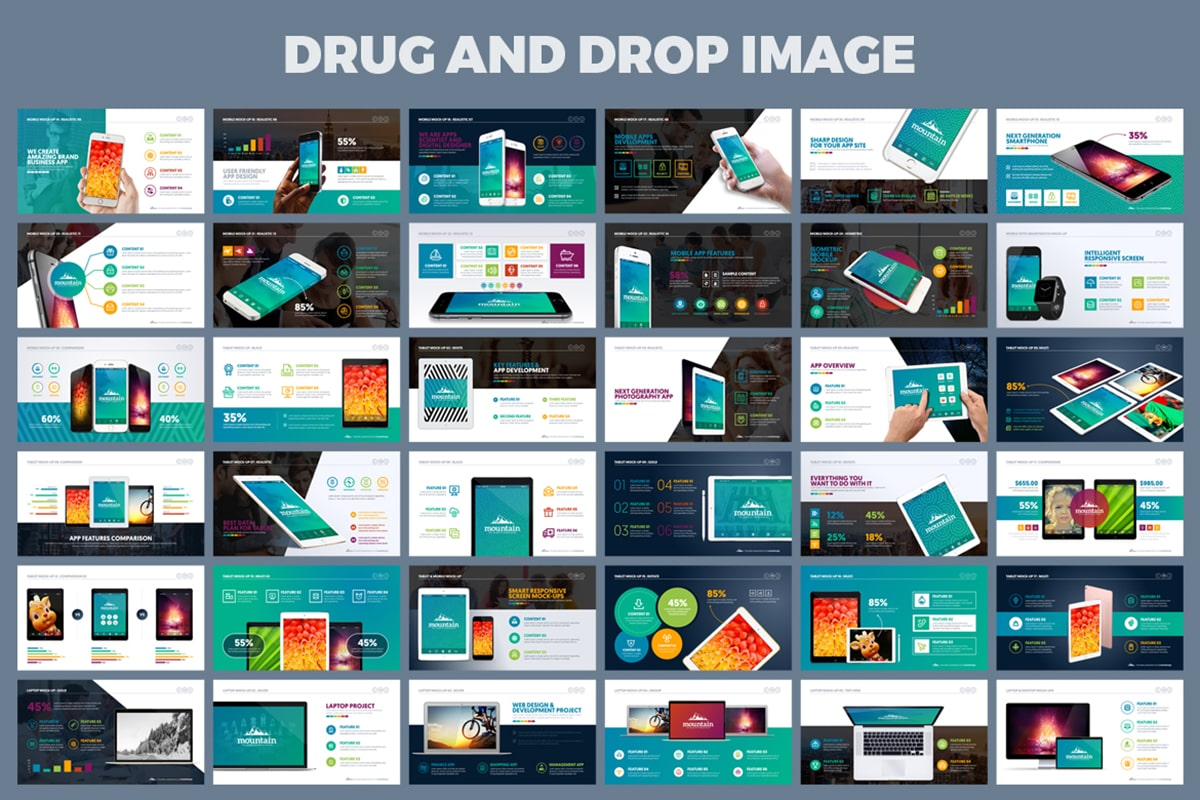 20 Premium PowerPoint and Keynote Templates - 06 Drug and drop ready powerpoint presentation design min