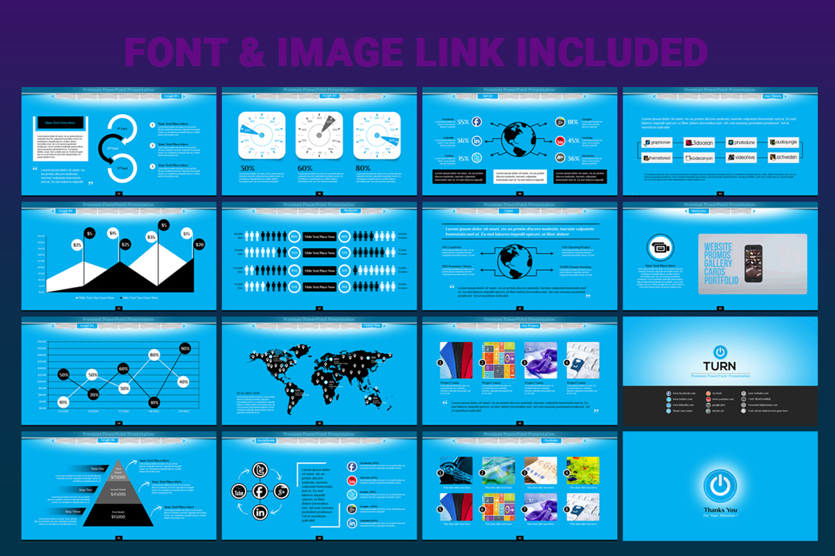 20 Premium PowerPoint and Keynote Templates - 07 Font and image available powerpoint presentation template