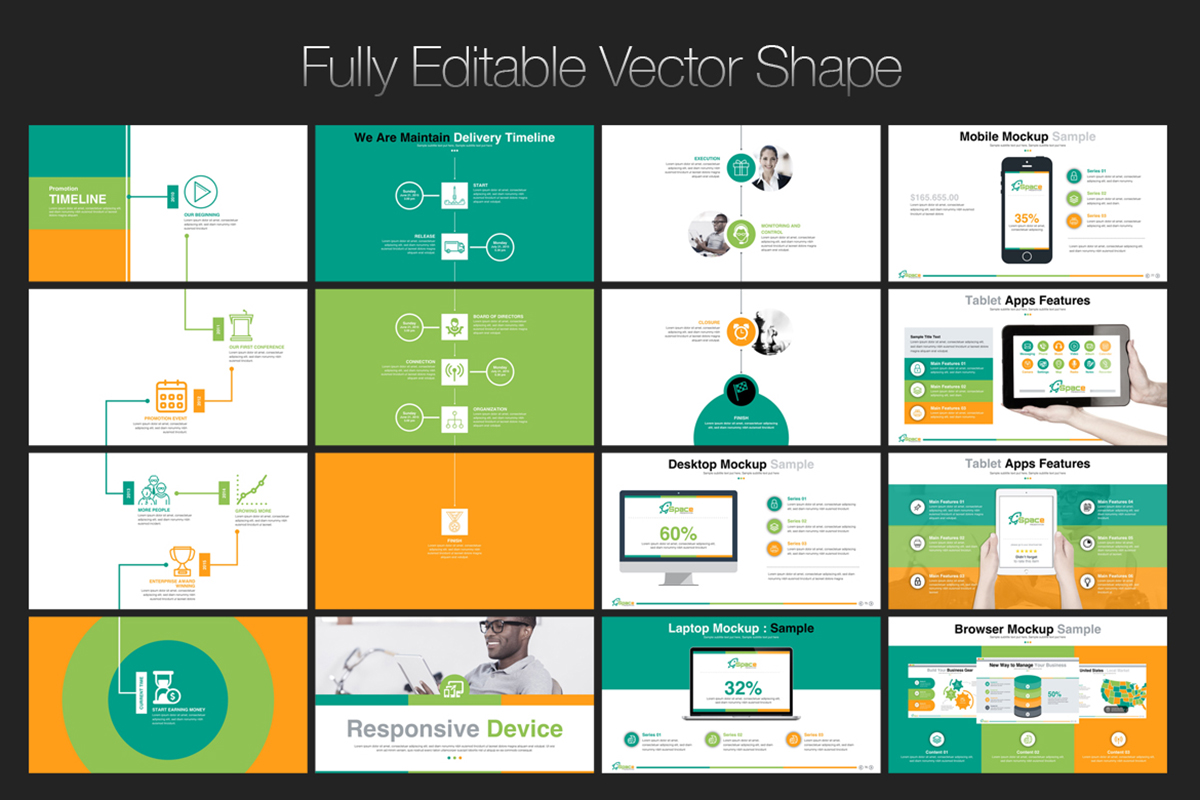 20 Premium PowerPoint and Keynote Templates - 07 Fully Editable Vector Shape PowerPoint Presentation Template Free Download