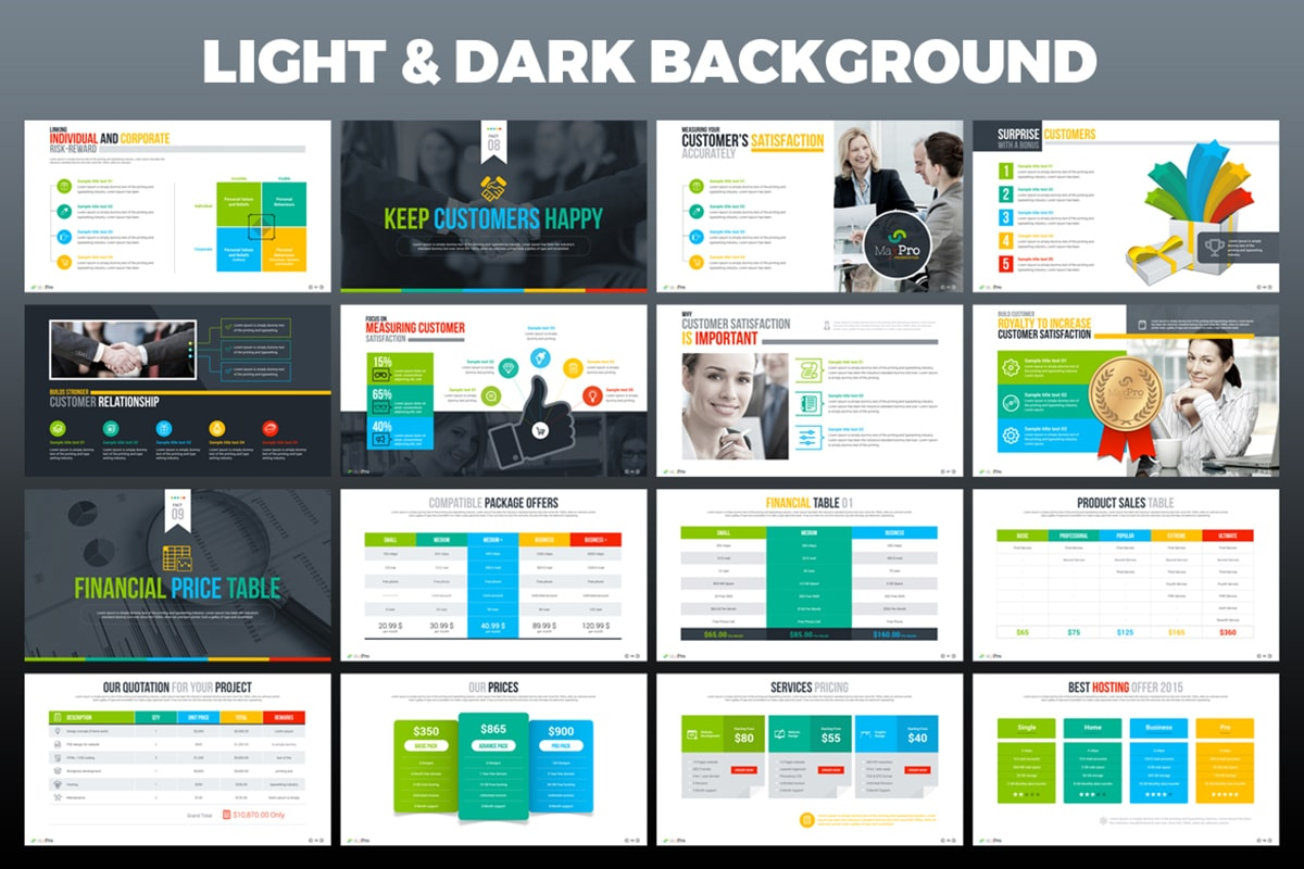 20 Premium PowerPoint and Keynote Templates - 07 Light and dark powerpoint background options min