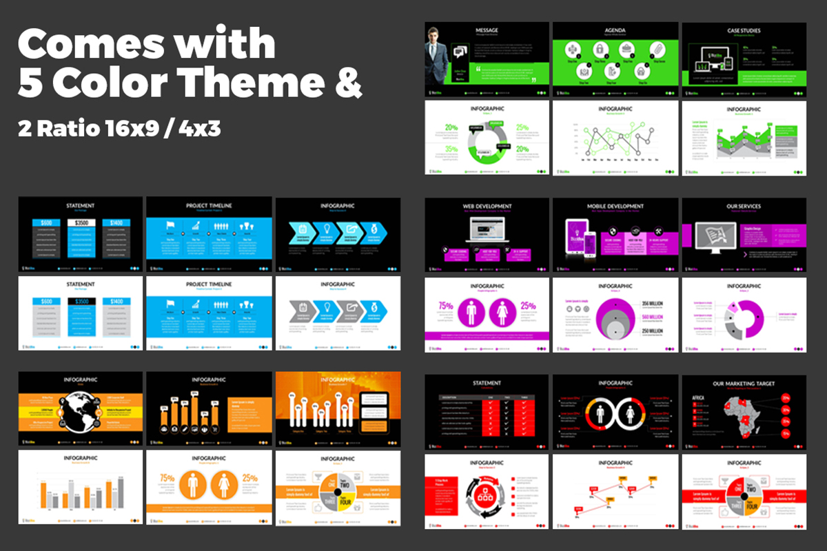 20 Premium PowerPoint and Keynote Templates - 07 Powerpoint ration and color theme