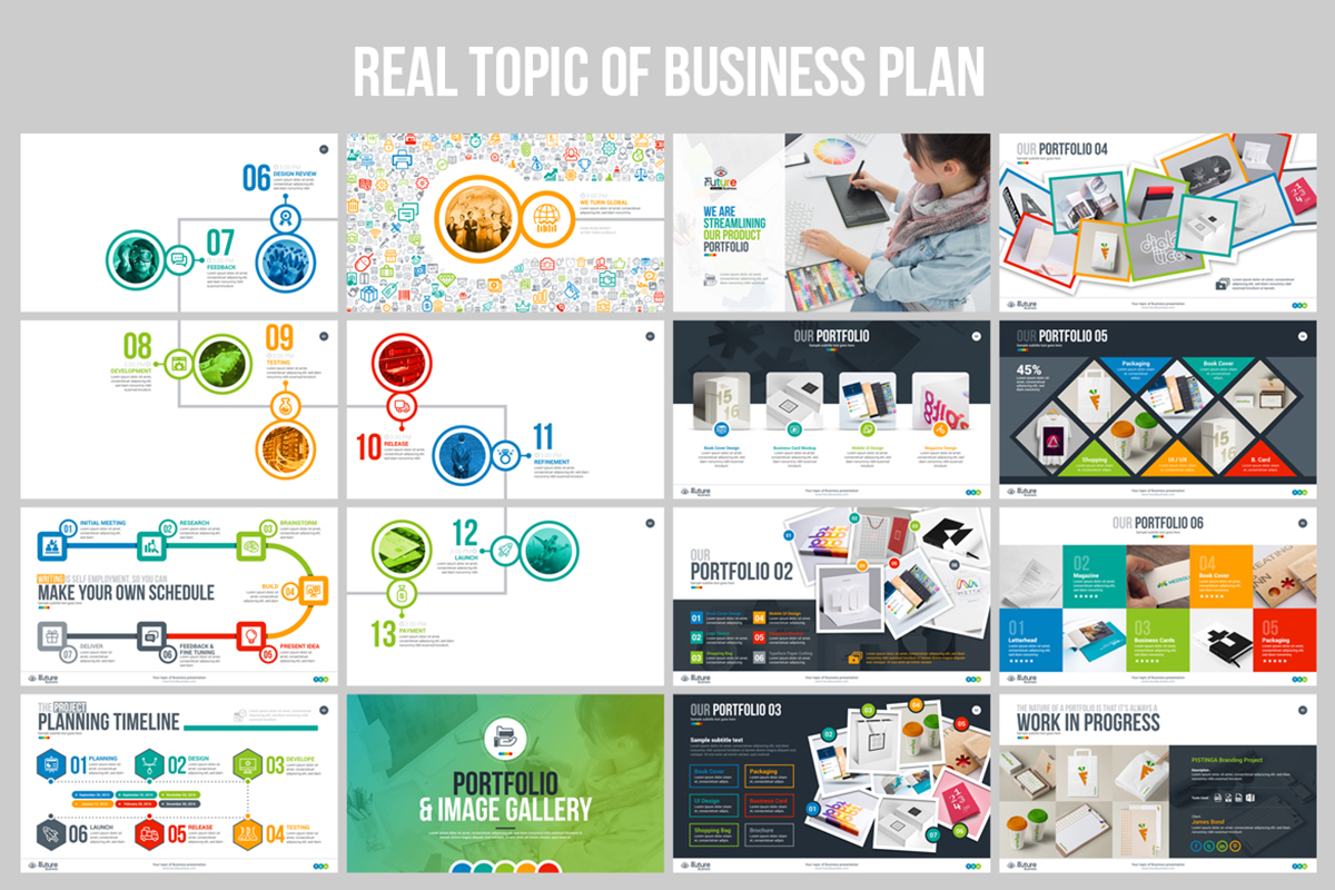 20 Premium PowerPoint and Keynote Templates - 07 Real Topic Business Plan PowerPoint Presentation Template Design PPT PPTX Template