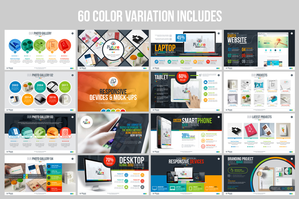 20 Premium PowerPoint and Keynote Templates - 08 Color Variation PowerPoint Presentation