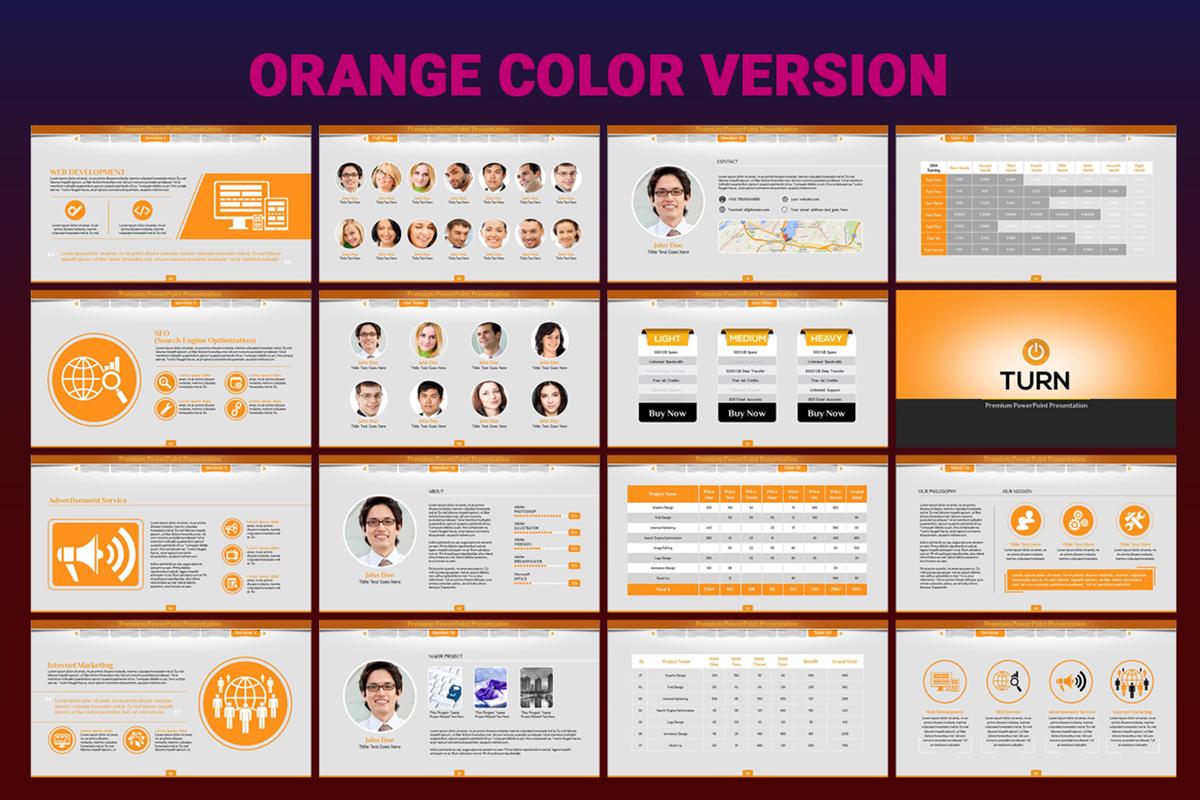 20 Premium PowerPoint and Keynote Templates - 08 Orange Color Version