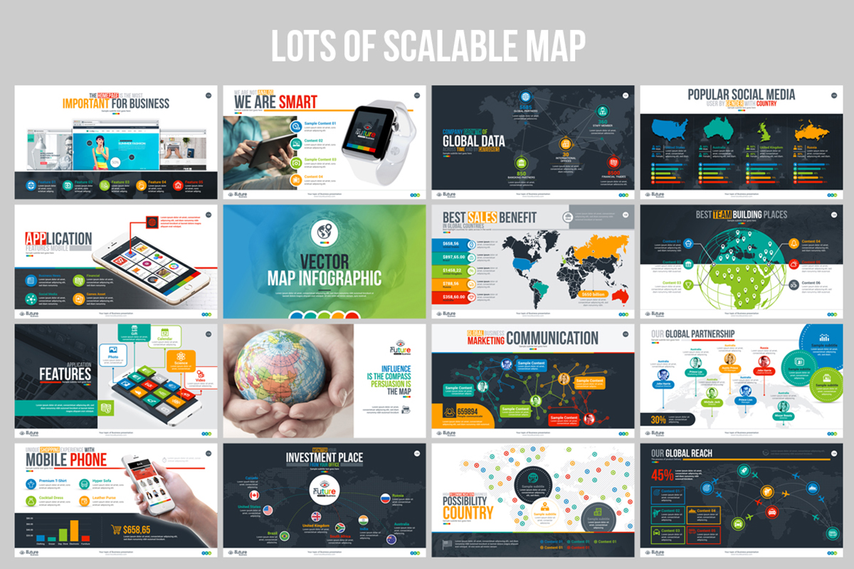 20 Premium PowerPoint and Keynote Templates - 09 Scalable Maps PowerPoint Presentation Templates