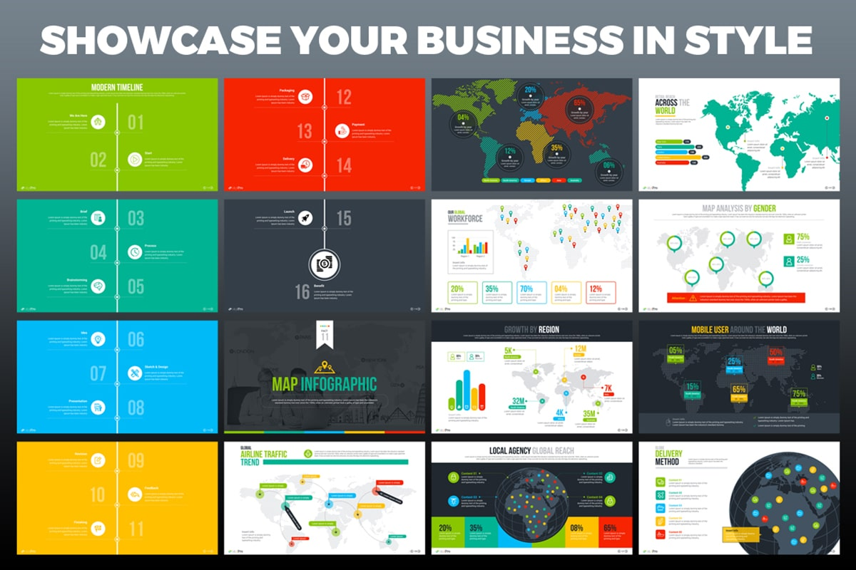20 Premium PowerPoint and Keynote Templates - 09 Showcase your business in style powerpoint presentation template min
