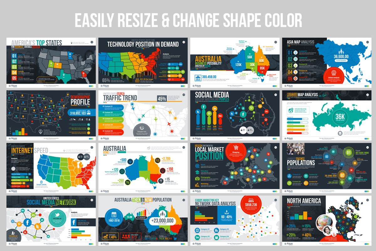 20 Premium PowerPoint and Keynote Templates - 10 Editable Color and Shape Business Plan PowerPoint Presentation Template