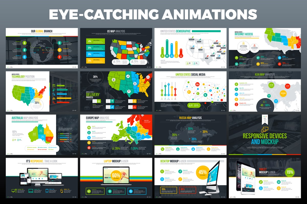 20 Premium PowerPoint and Keynote Templates - 10 Eye catching powerpoint animation and transation min
