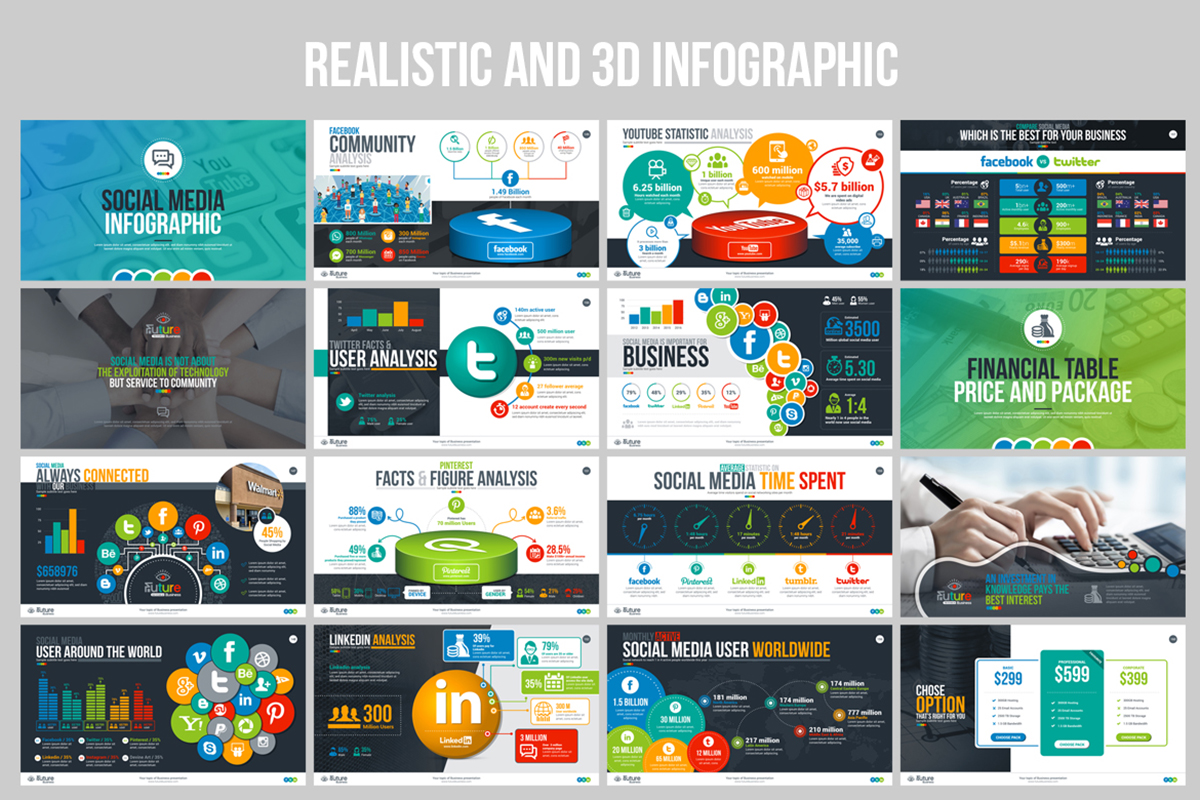 20 Premium PowerPoint and Keynote Templates - 11 Realistic and 3D PowerPoint Presentation Template Design