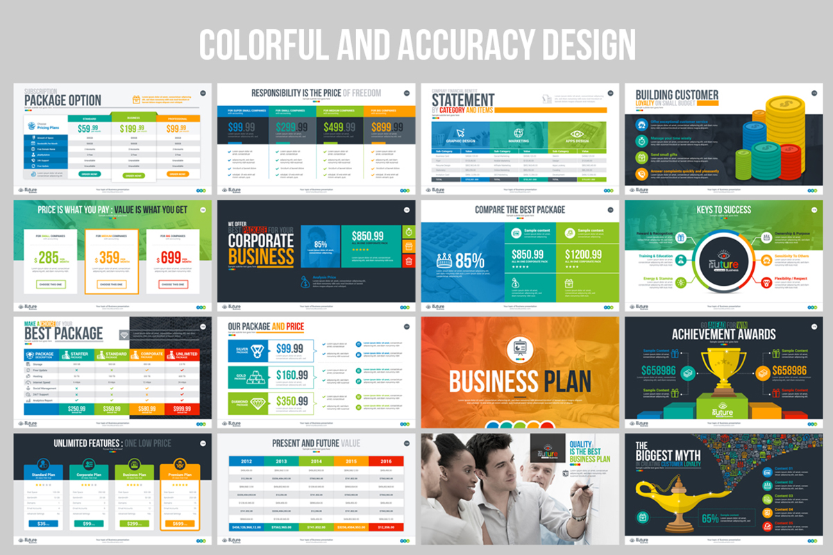 20 Premium PowerPoint and Keynote Templates - 12 Colorful and accuracy business plan powerpoint presentation template