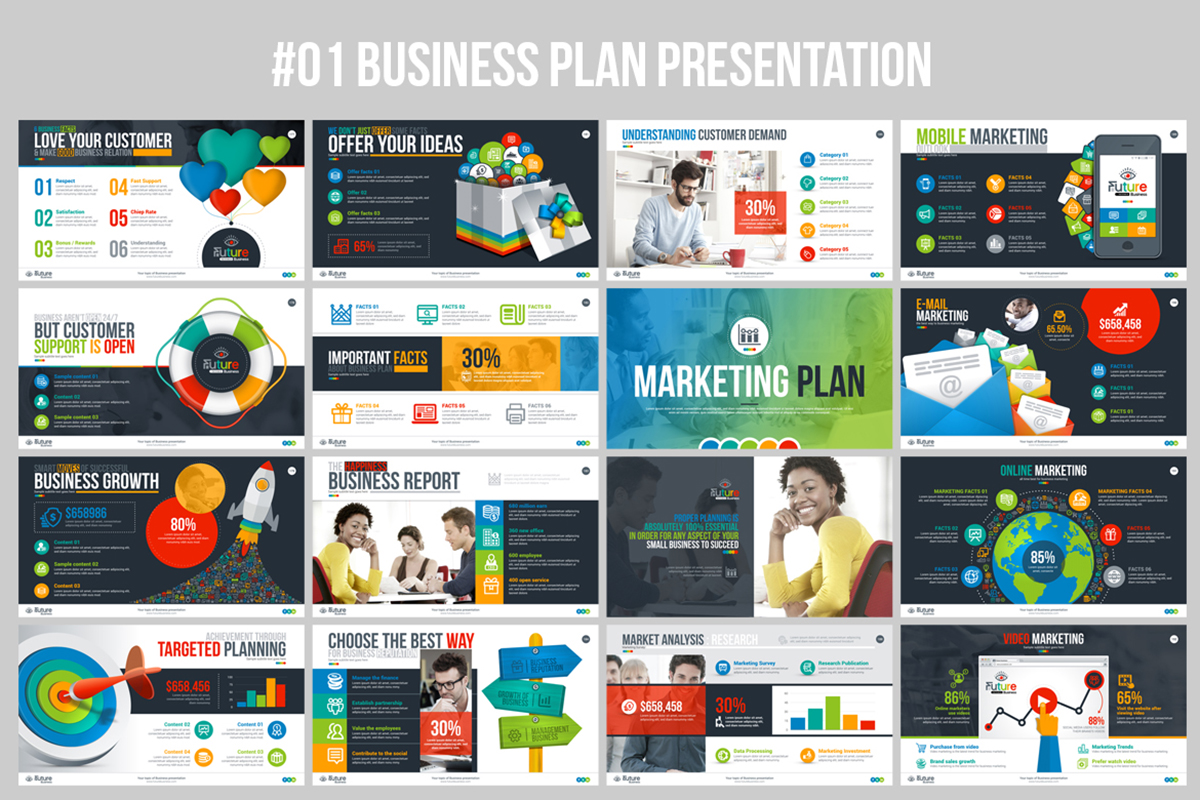 20 Premium PowerPoint and Keynote Templates - 13 Best Business Plan PowerPoint Presentation in envato market