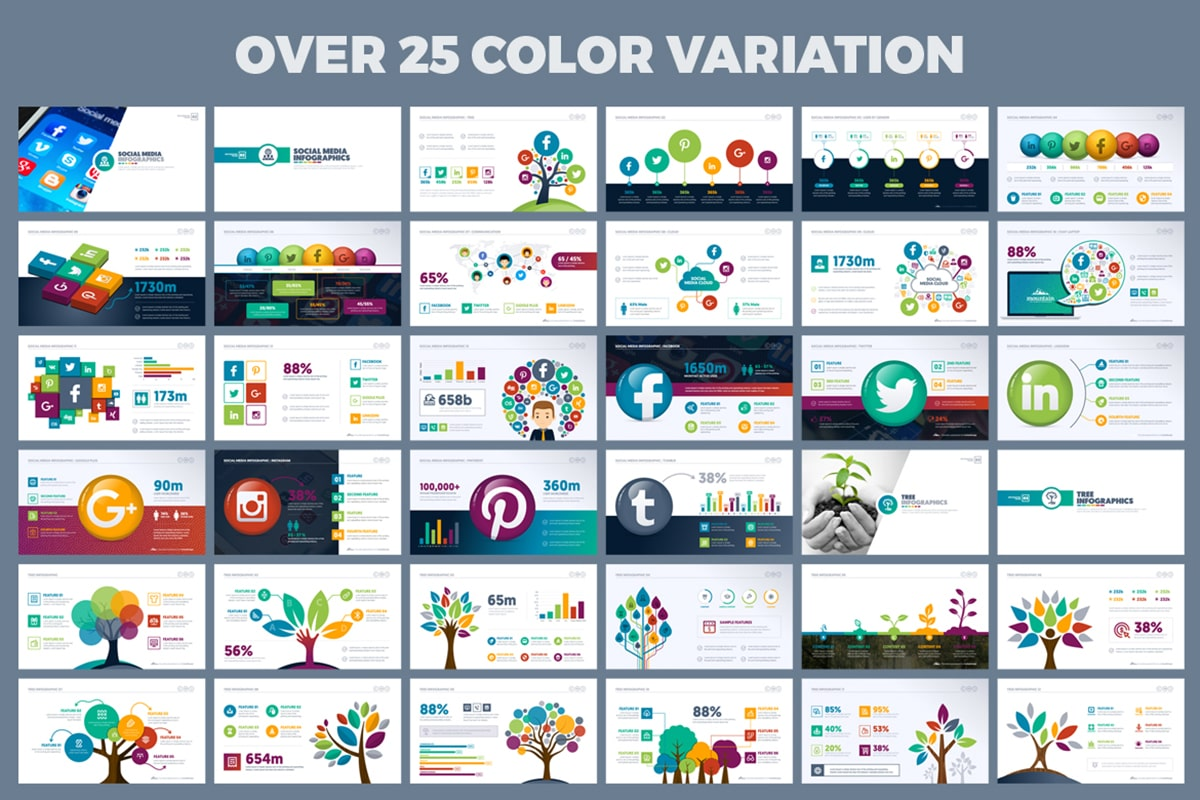 20 Premium PowerPoint and Keynote Templates - 13 PowerPoint Presentation color variations min
