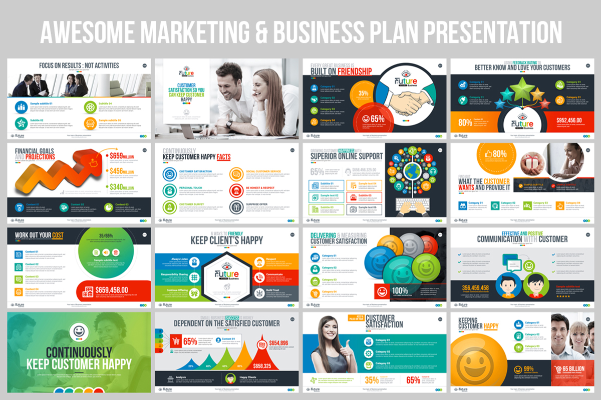 20 Premium PowerPoint and Keynote Templates - 15 Awesome Marketing and Business Plan Presentation Templates