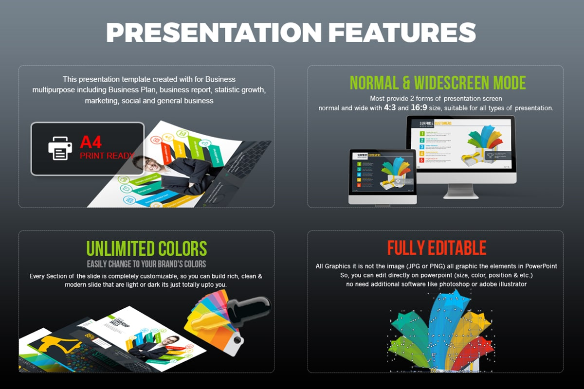 20 Premium PowerPoint and Keynote Templates - 15 Presentation Features min