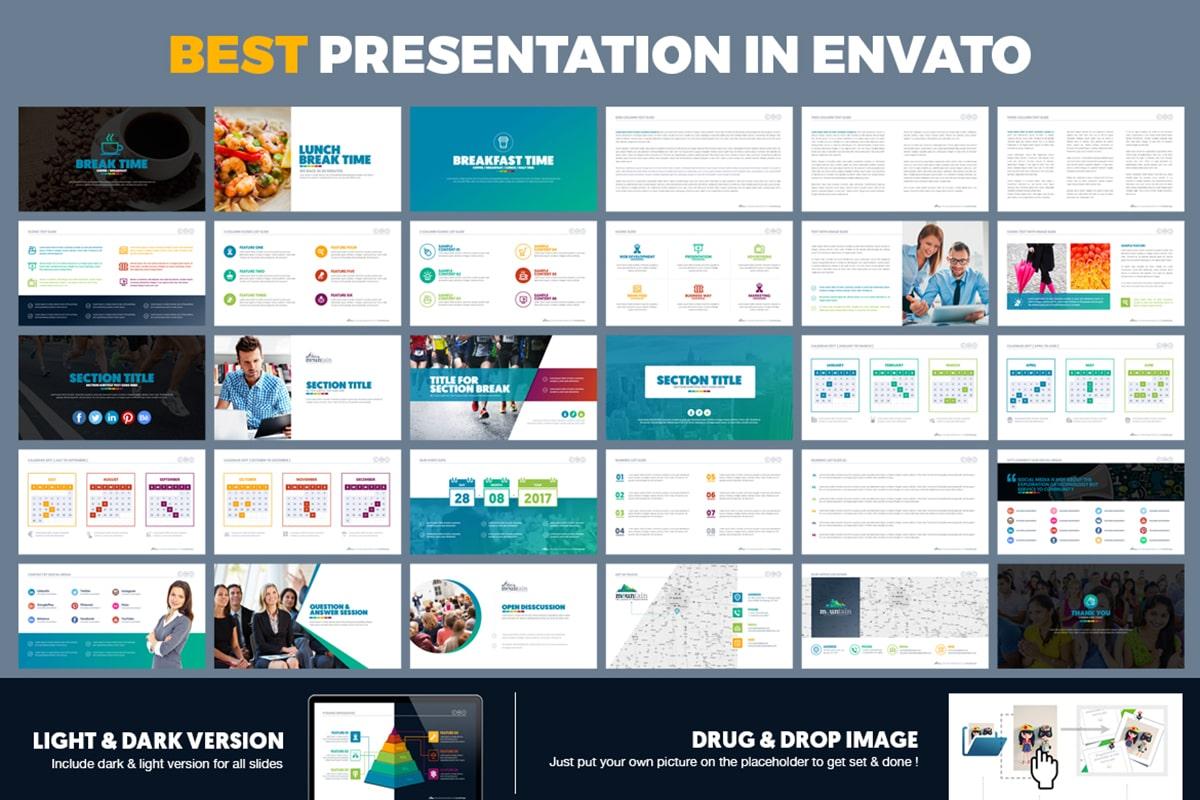 20 Premium PowerPoint and Keynote Templates - 16 Best Presentation in envato market min