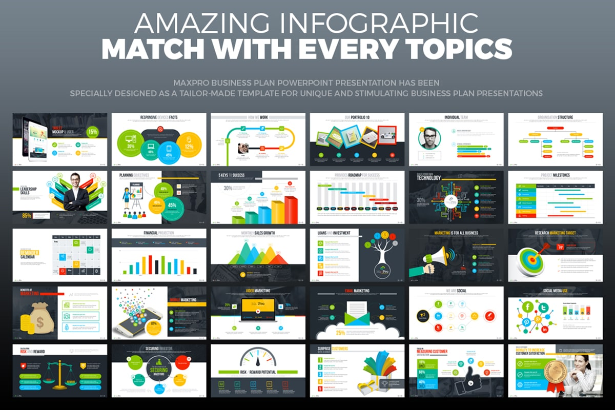 20 Premium PowerPoint and Keynote Templates - 16 Business plan powerpoint ppt pptx animation animated background presentation design template min