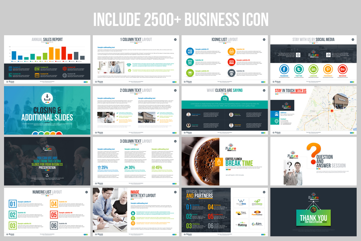 20 Premium PowerPoint and Keynote Templates - 18 Icon Powerpoint presentation template