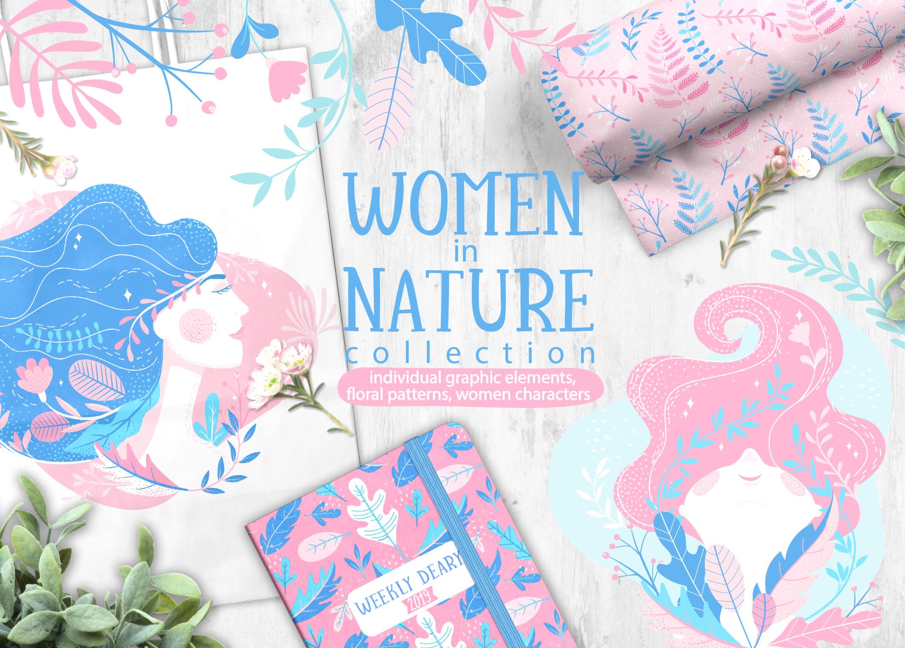 Women in Nature: Design Elements Bundle