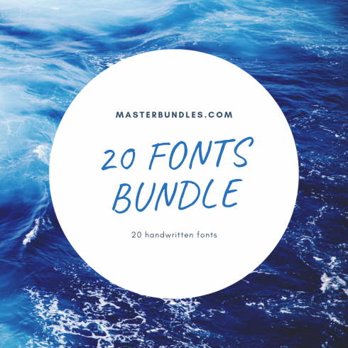 Author - 20 Fonts Bundle 490x490