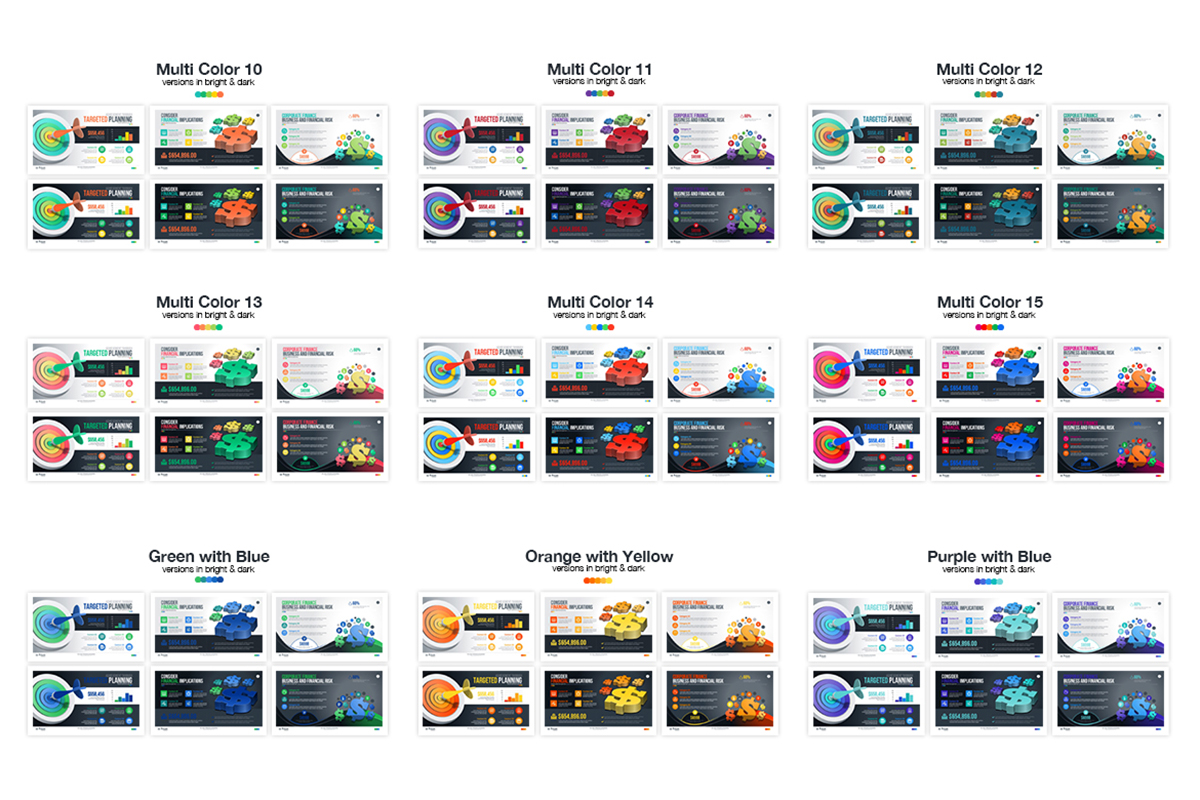 20 Premium PowerPoint and Keynote Templates - 21 Color variation powerpoint presentation template