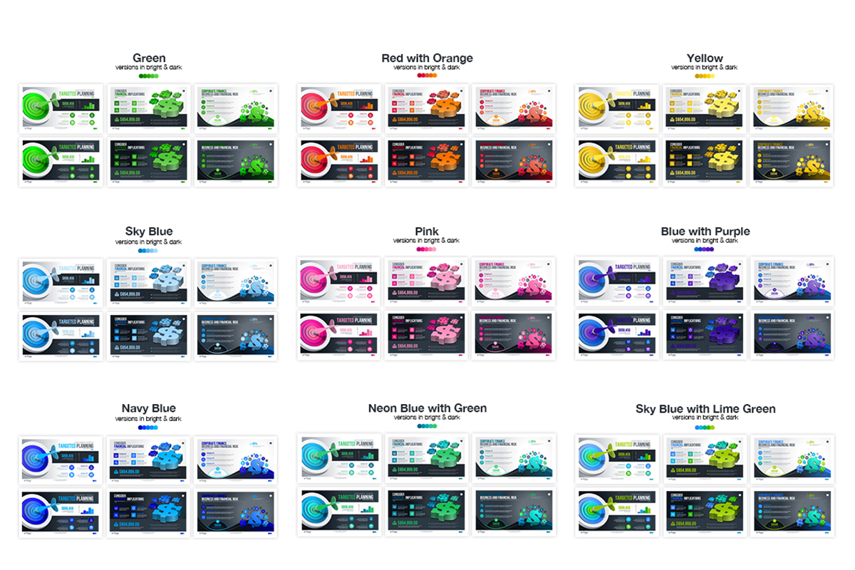20 Premium PowerPoint and Keynote Templates - 22 Multi color and single color powerpoint presentation