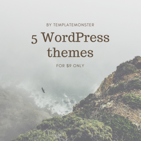 5 WordPress themes for $9 only - 5 WordPress themes 490x490