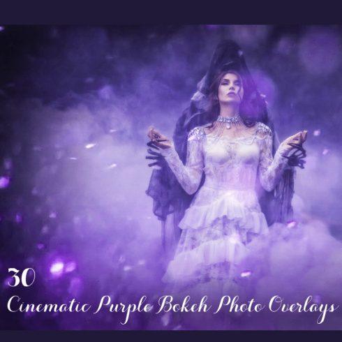30 Cinematic Purple Bokeh Photo Overlays - 600 12 490x490