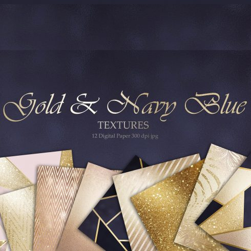 Gold Bronze Rose Navy Foil Textures $4 - 600 14 490x490