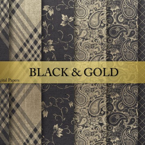 Black & Gold Textures and patterns - $4 - 600 15 490x490