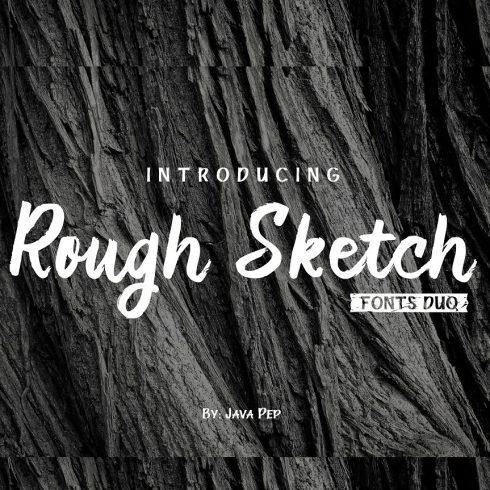 """Handwritten brush font """"Rough Sketch - fonts duo"""" - 600 17 490x490"""