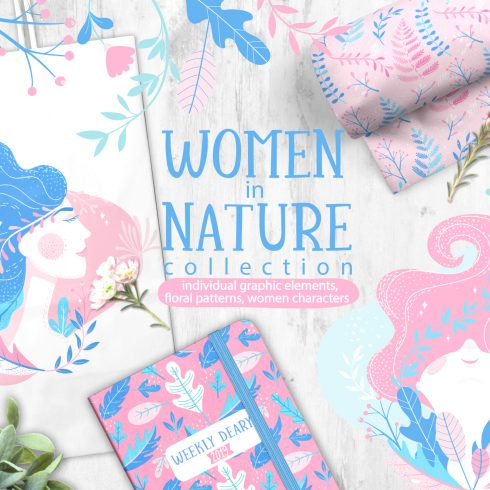 Women in Nature: Design Elements Bundle - $12 - 600 28 490x490