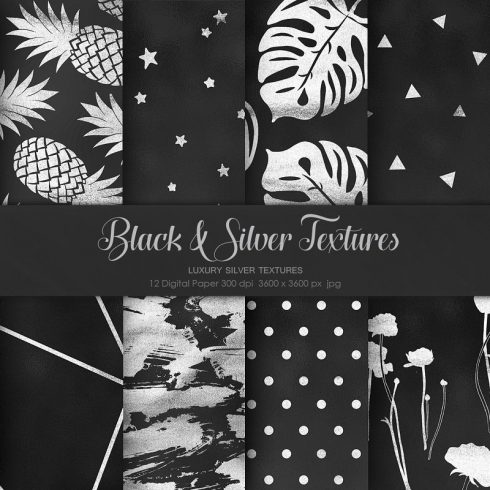 Black and Silver Textures - $4 - 600 32 490x490