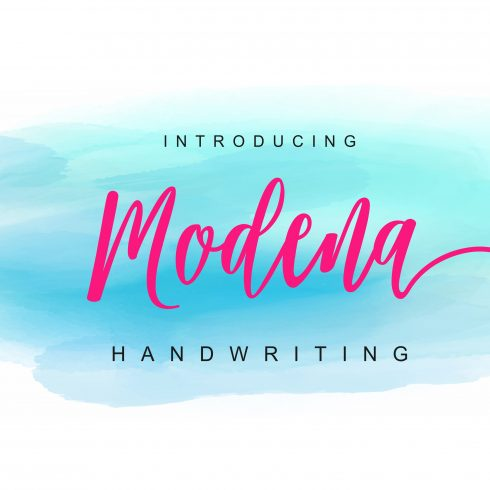 Modena Handwriting Font - $5 - 600 34 490x490