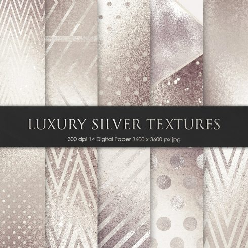 Luxury Silver Metallic Foil Textures - $4 - 601 1 490x490