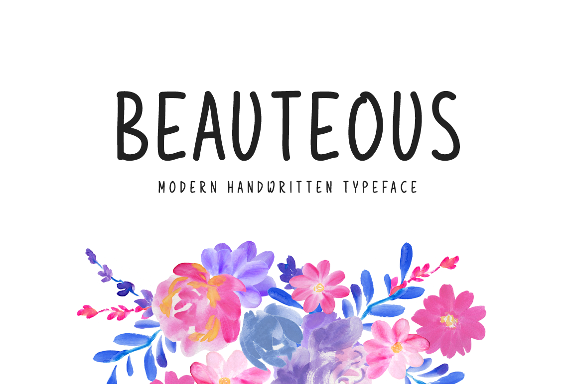 brand new modern handwritten font