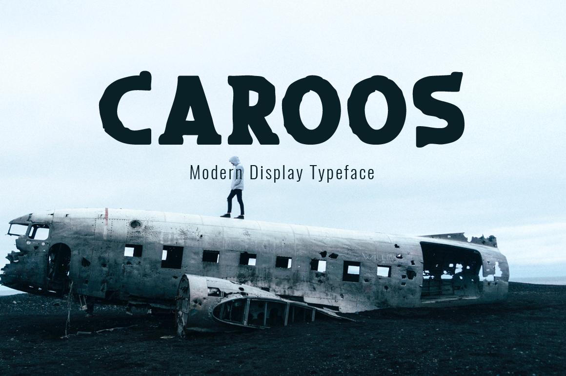 Caroos display font