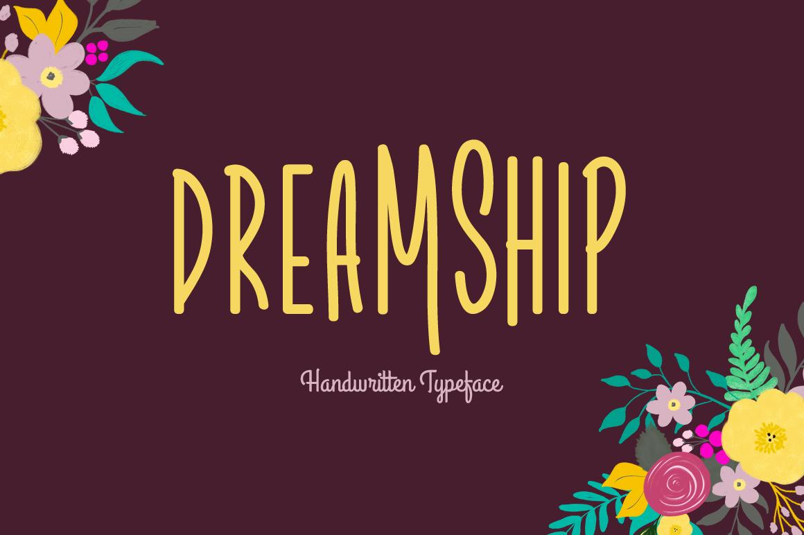 Dreamship handwritten font
