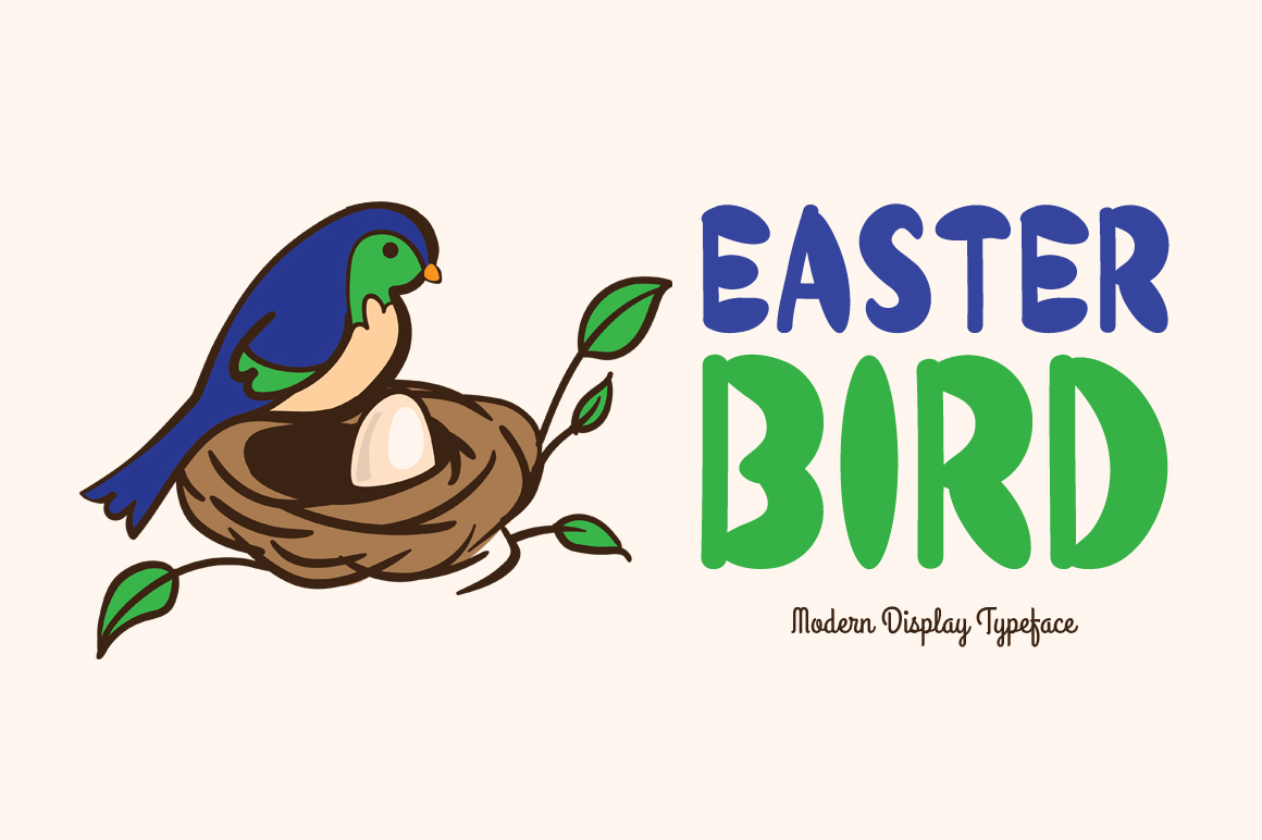 Easter Bird display font