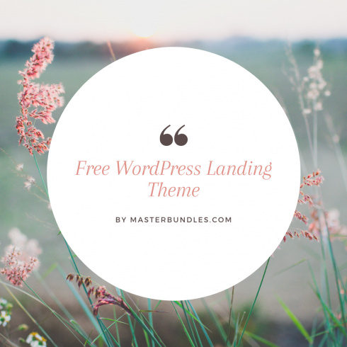 Easily Customize WordPress Themes with No Code at All! - Free WordPress Landing Theme 490x490