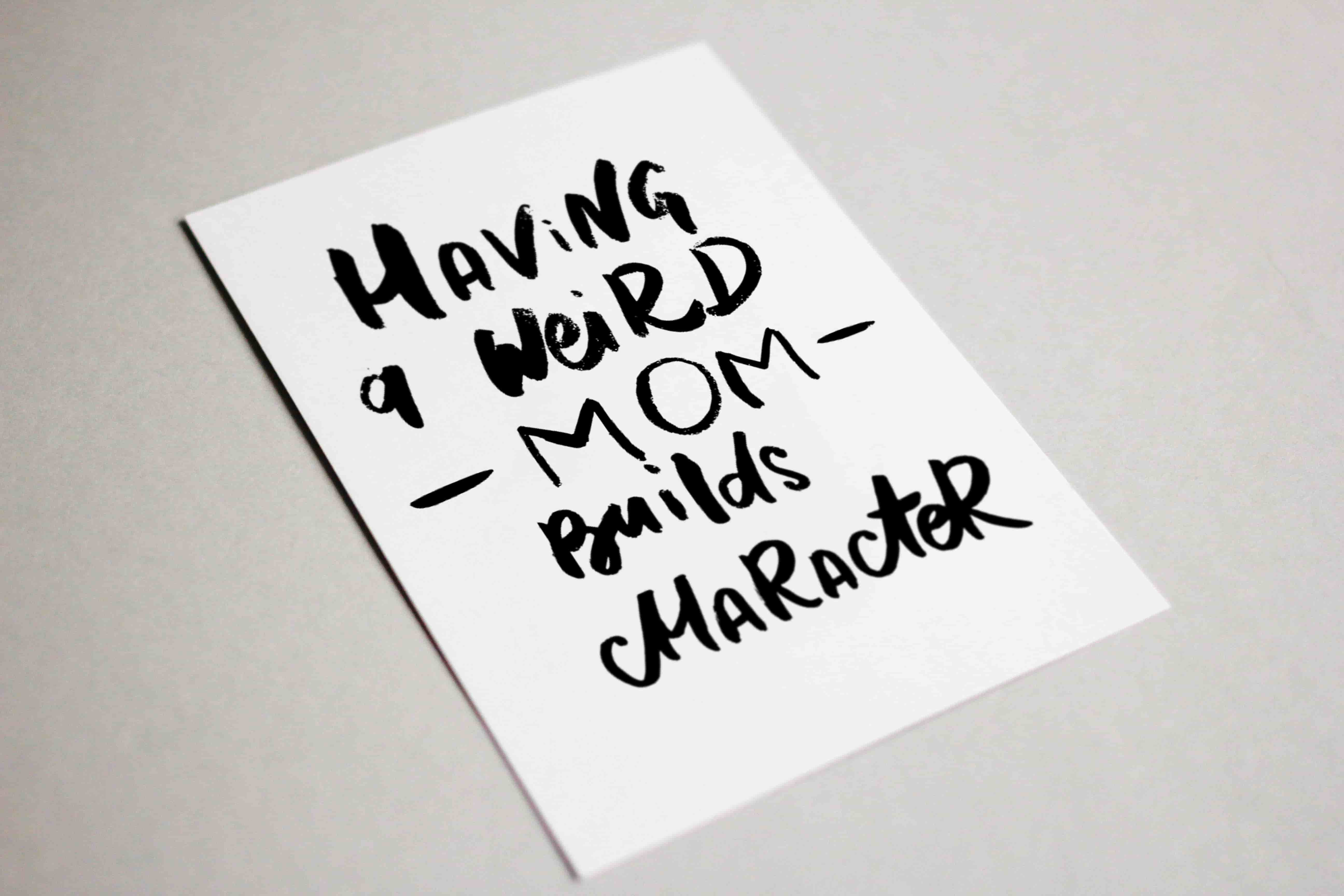 Funny Mother's Day Typography Postcards