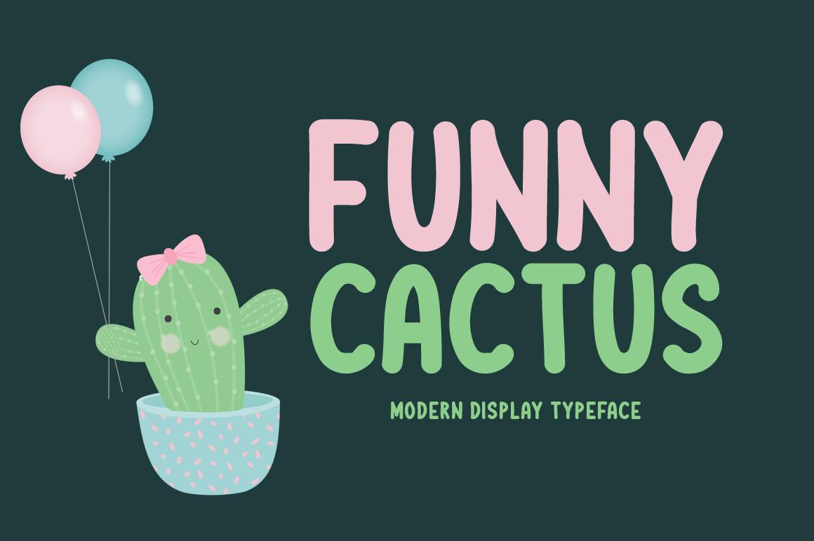 Funny Cactus modern handwritten font