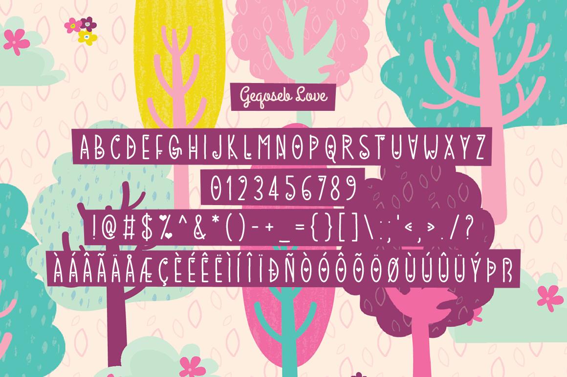 Geqoseb modern display font
