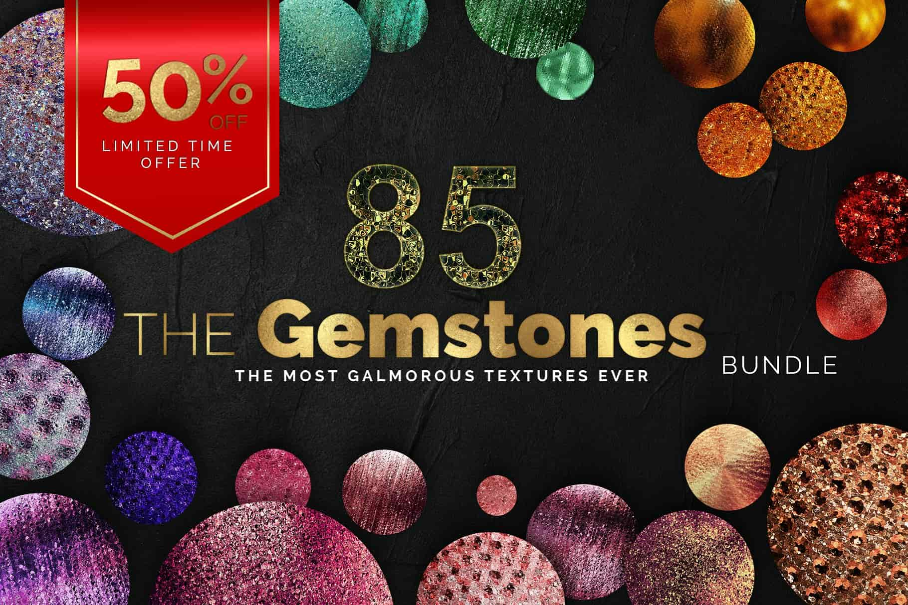 Glam Gemstone Textures Bundle