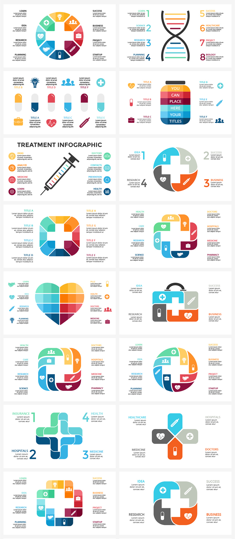 Medical Infographic: PPT, KEY, PSD, EPS - cover.