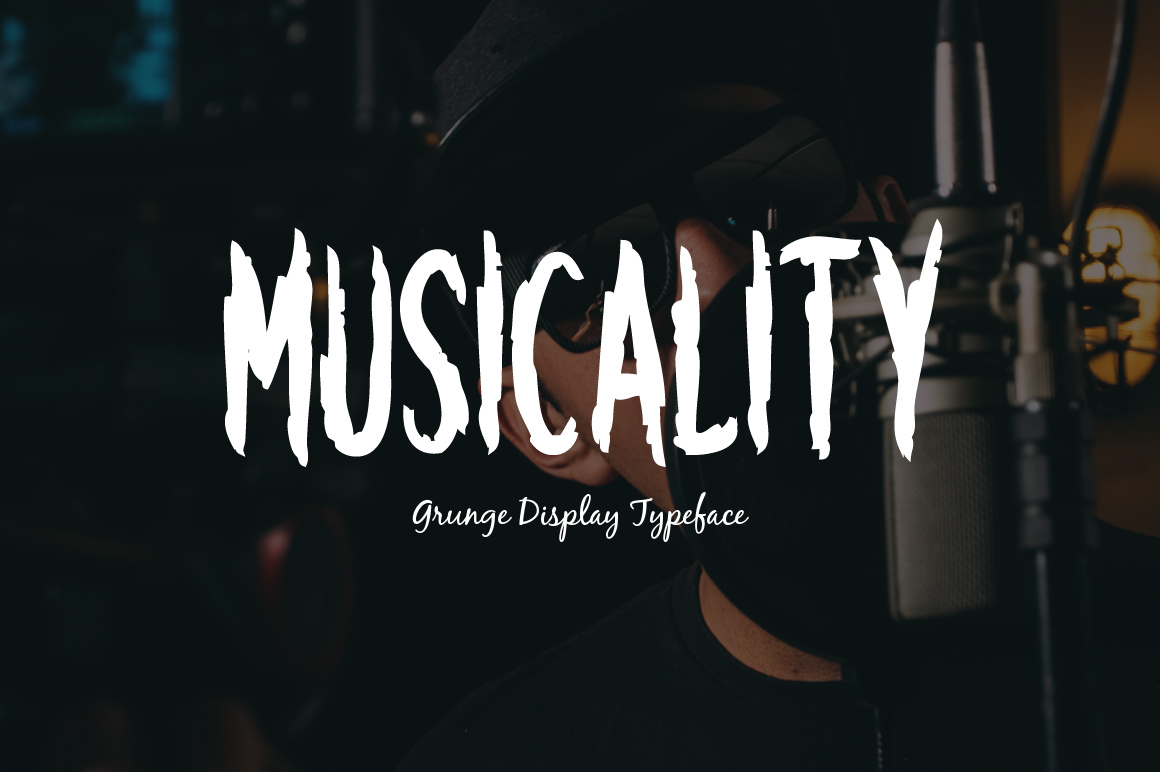 Musicality grunge display font