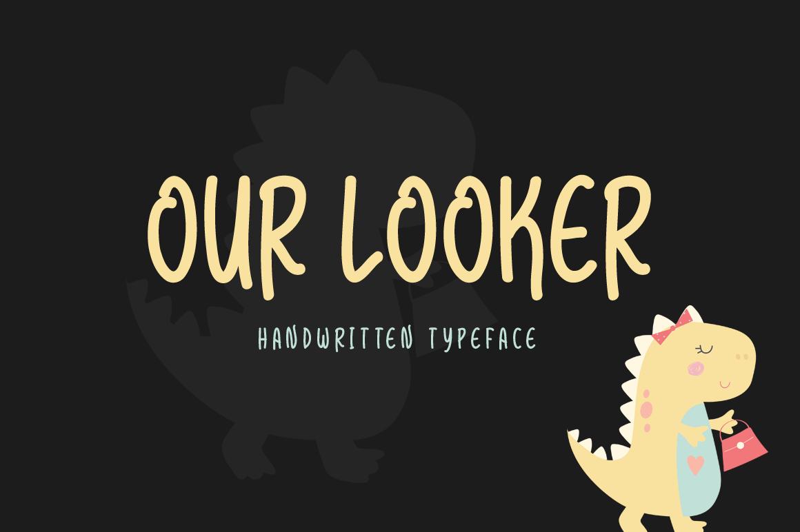 Our Looker modern handwritten font