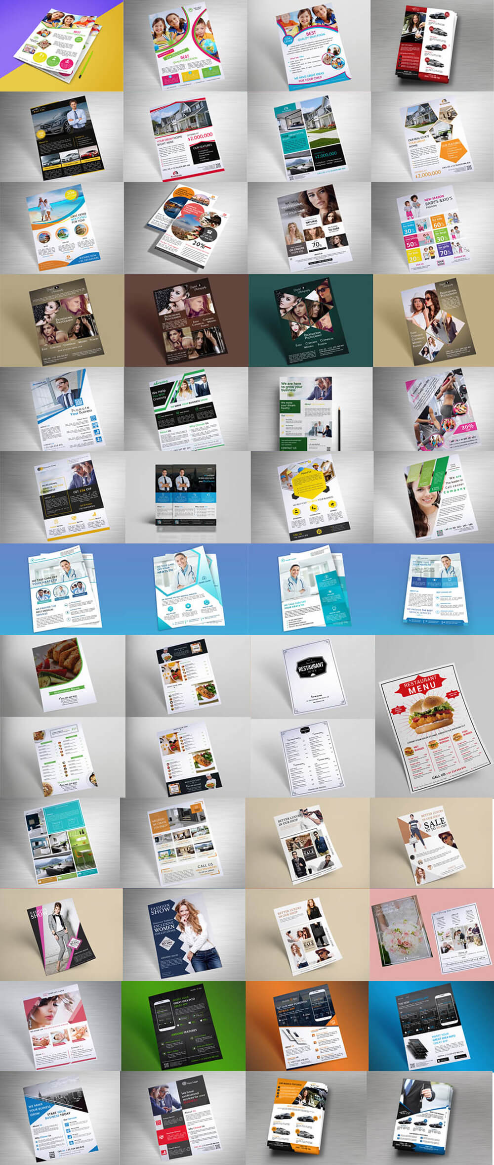 1400 Multipurpose Business Flyer Templates - $15 [extended license] - PREVIEW 2