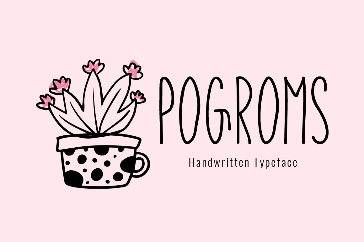 Pogroms modern handwritten font