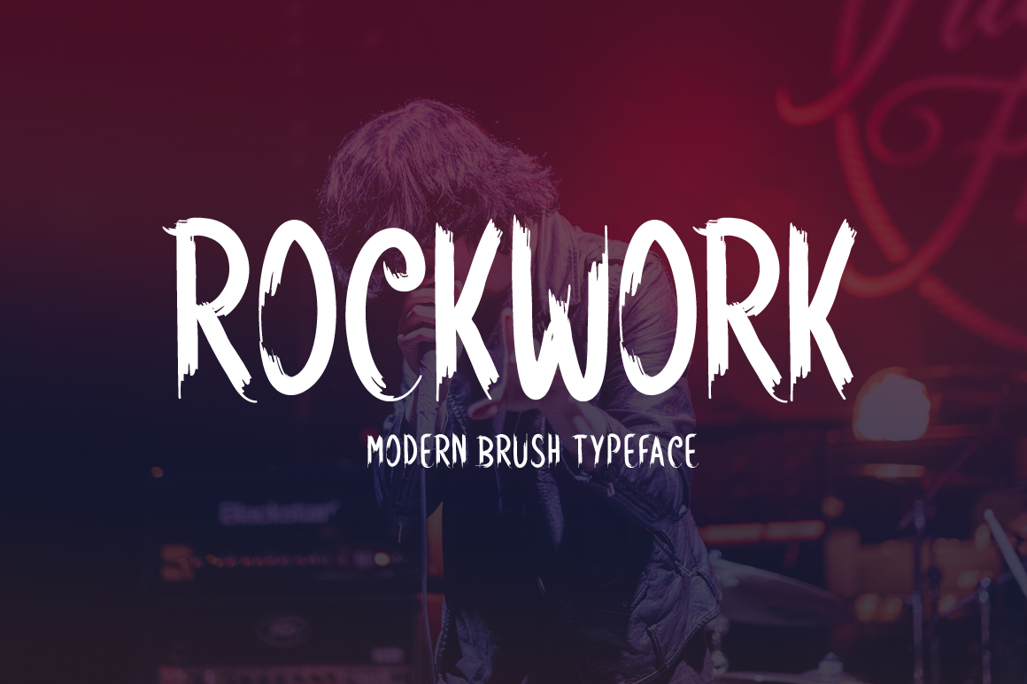 Rockwork modern brush font